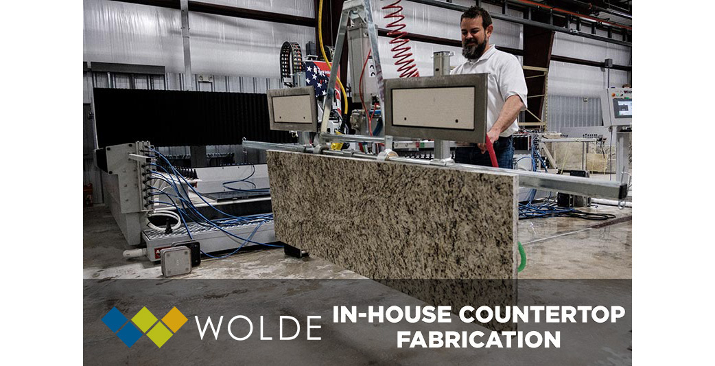 Wolde Flooring in Madison offers full service in-house countertop fabrication to all of our customers