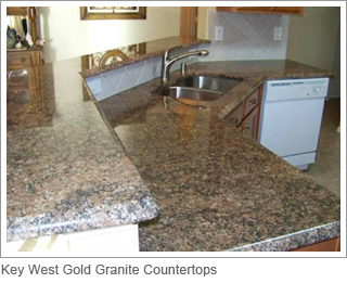 Key West Gold Granite Countertops.