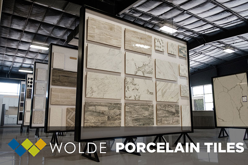 Visit Wolde Flooring's huge new showroom in Madison, AL where we carry a large selection of Porcelain Tiles